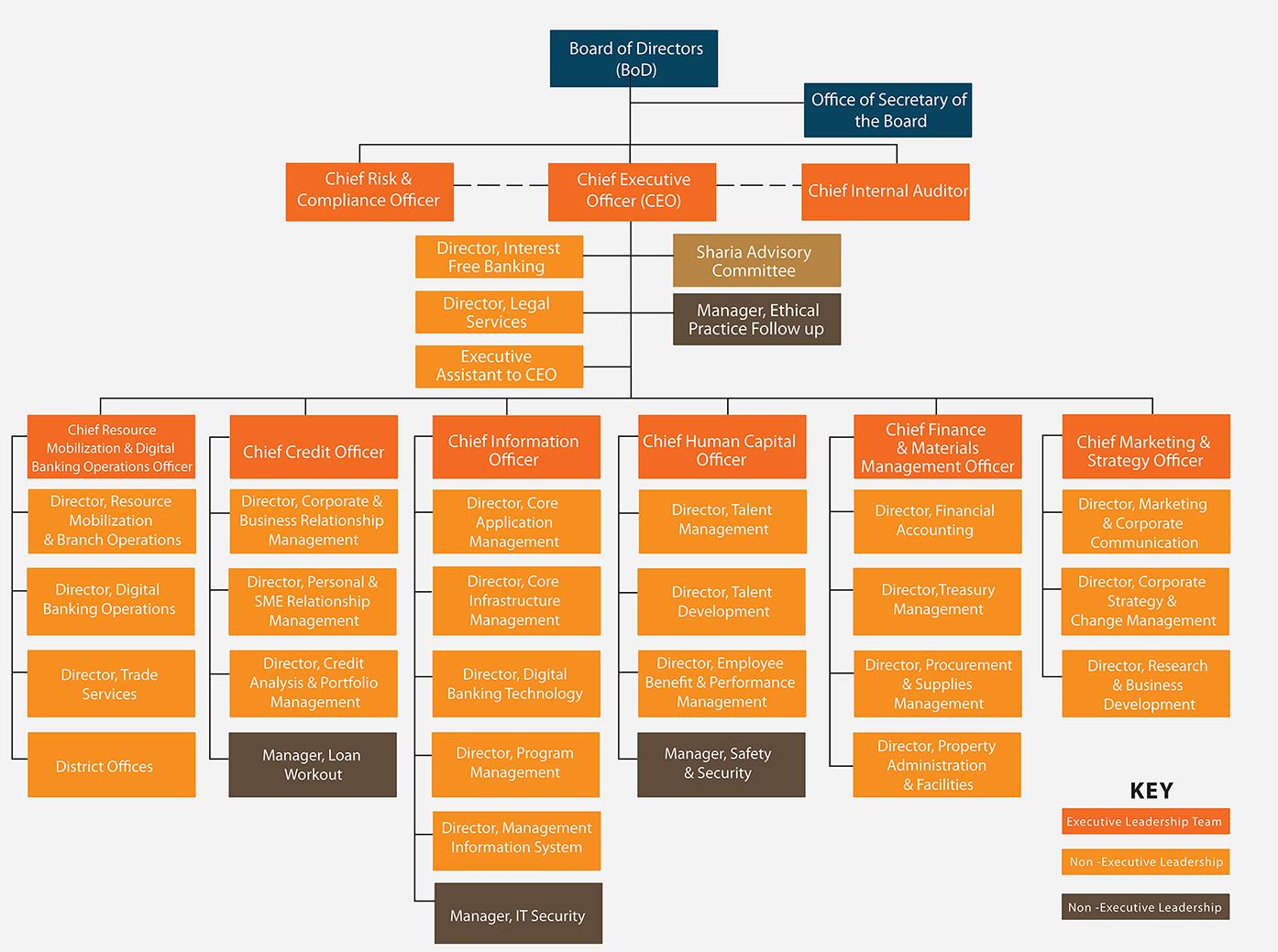 Organizational structure-Wegagen Bank